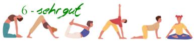 6 yogis sehr gut